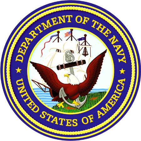 graphic emblem department of the navy unites states of america