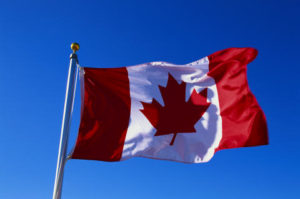 stock photo canadian flag