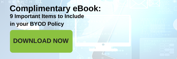 eBook: 9 Important Items to Include in Your BYOD Policy