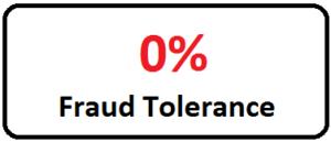 graphic 0% fraud tolerance