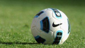 stock photo soccer ball on grass