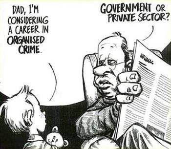illustration funny comic government corruption
