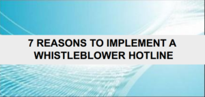 graphic 7 reasons to implement of whistleblower hotline
