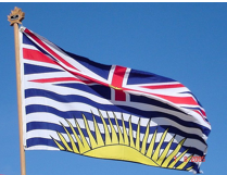 stock photo british columbia flag