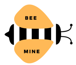 graphic illustration bee mine