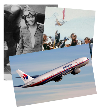 photo collage amelia earhart uruguayan air force flight 517 malaysian flight 370