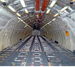 photo internal plane cargo hold