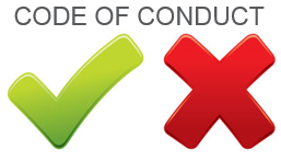 cod of conduct universal yes and no symbols