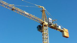 stock photo construction crane