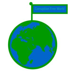illustration world with flag