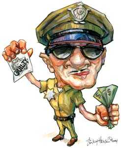 illustration cartoon cop