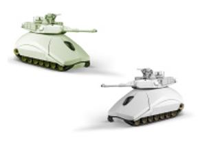 stock photo toy tanks