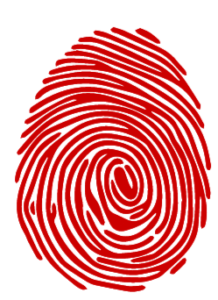 graphic finger print in red