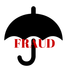 graphic word fraud under iconic umbrella