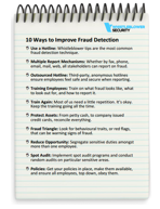 graphic fraud prevention checklist