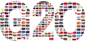 G20 made up of world flags
