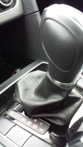 stock photo closeup of a gearshift in car