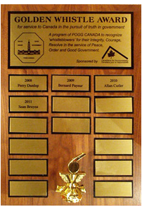 photo golden whistle aware plaque