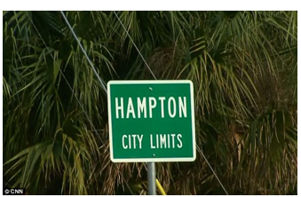 stock photo Hampton city limits sign