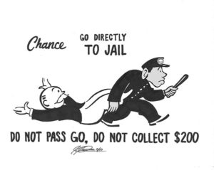 monopoly go directly to jail card artwork