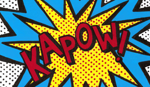 illustration graphic comic book sound effect KAPOW