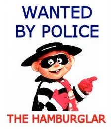 illustration mcdonalds character hamburglar
