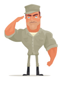 stock illustration military man saluting