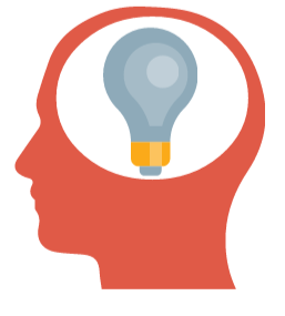 illustration head with lightbulb inside
