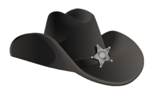 stock photo sheriff hat