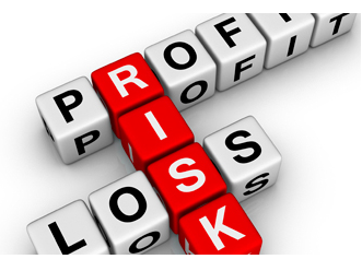 stock graphic conceptual 3d cubes profile risk loss