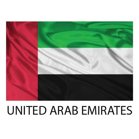 graphic flag united arab emirates
