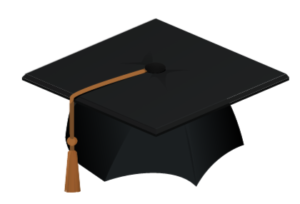 illustration graduation hat with tassle