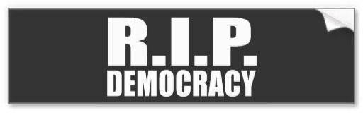 stock illustration RIP democracy