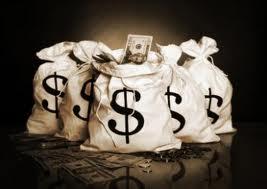 stock photo bags of money