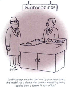 stock illustration comic photocopier