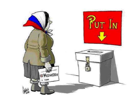illustration comic russian voter