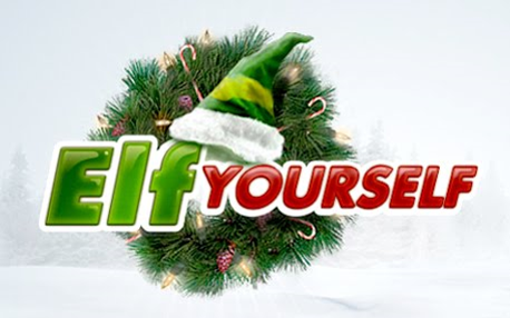 stock graphic e-card elf yourself