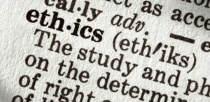 stock photo close up of definition of ethics
