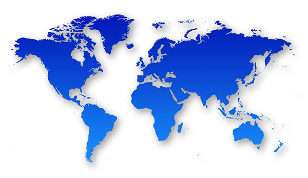 stock illustration global map