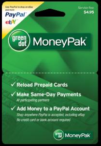 product photo of moneypak greendot card