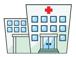 stock graphic illustration hospital