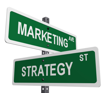 stock photo sign post with marketing and strategy on street like signs