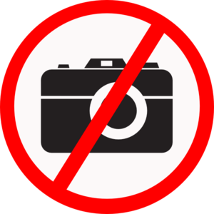 graphic universal illustration for no cameras allowed