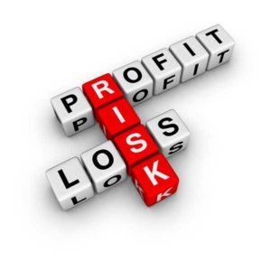 stock illustration risk profit loss cubes