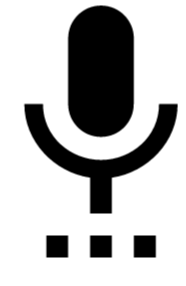 illustration graphic icon for microphone voice recording