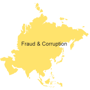 illustration asian continent fraud and corruption