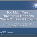 Fraud: too much trust